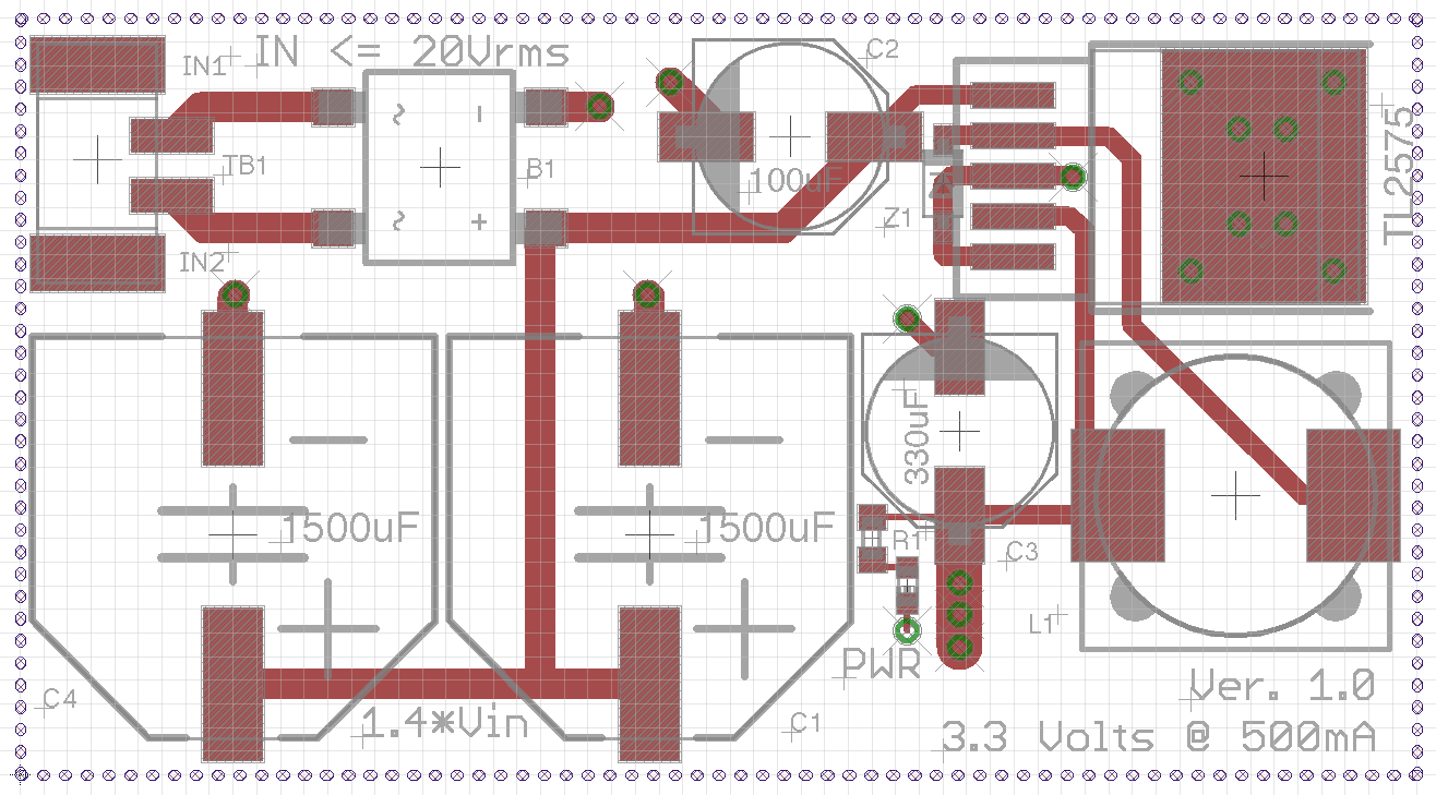 Hardware Kelly Flanagan The Schematic Of A Typical Scott T Transformer Is Shown Below Those Items Represented In Gray Indicate Labels And Component Outlines That Will Be Visible On Completed Board Red Areas Represent Copper Pads